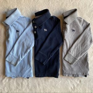 Bundle - 3 Preppy Long Sleeve Polos